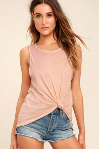 Project Social T Easy Rider Blush Pink Tank Top