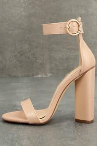 Kamali Nude Ankle Strap Heels