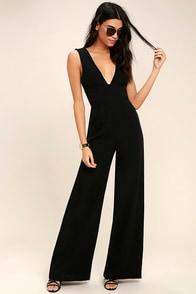 Fashion Faithful Black Wide-Leg Jumpsuit