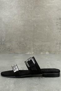 Matisse Brantly Black Suede Slide Sandals