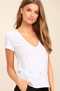Unfiltered White Tee