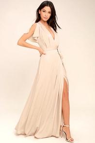 City of Stars Nude Maxi Dress