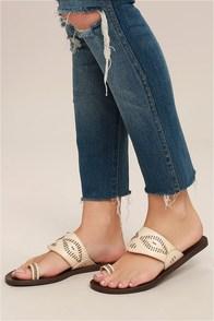 Blowfish Domaine Off-White Flat Sandals