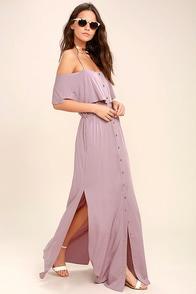 Life's Wonders Mauve Off-the-Shoulder Maxi Dress