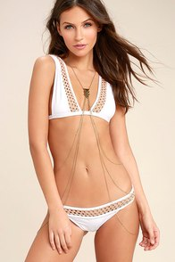 Make Waves Gold Body Harness