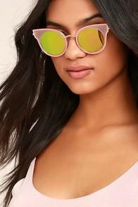 Pretty Sight Pink Mirrored Sunglasses