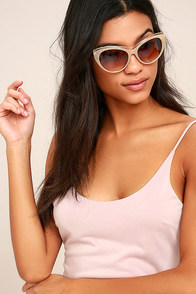 Maria Beige and Tortoise Sunglasses