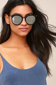 I'm In Black and Silver Mirrored Sunglasses