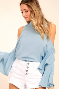 Flow With It Light Blue Top