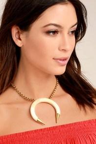 Natalie B Pima Gold Choker Necklace