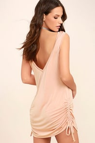 Hey Girl Blush Pink Shift Dress