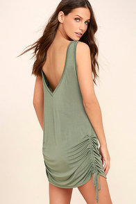Hey Girl Sage Green Shift Dress