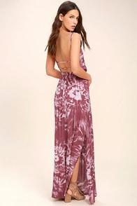 Live in Harmony Mauve Tie-Dye Maxi Dress