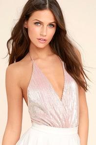 Oh La Las Vegas Blush Pink Bodysuit
