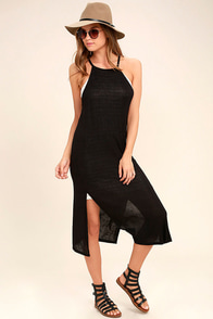 Olive & Oak Tribeca Black Midi Dress
