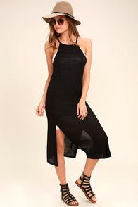 Olive & Oak Tribeca Black Midi Dress