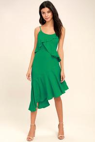 Adelyn Rae Desdemona Green Midi Dress