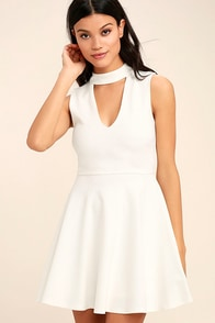 Loving You is Easy White Skater Dress
