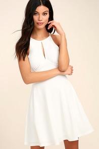Black Swan Francine Ivory Skater Dress