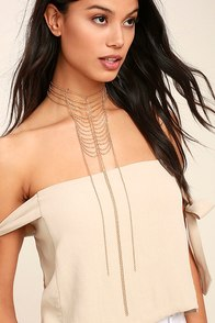 Spare Chain-ge Gold Layered Choker Necklace