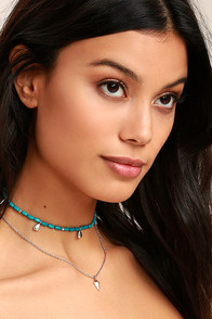 Tranquil Travels Silver and Turquoise Layered Necklace