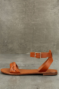 Tinsley Tan Ankle Strap Sandals