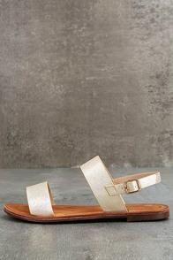 Kapalua Gold Flat Sandals