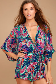 Hypnotized Purple Print Romper