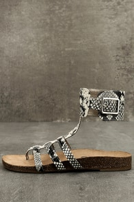 Circus by Sam Edelman Katie Cashmere Snake Ankle Strap Sandals