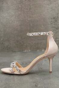 Jewel by Badgley Mischka Caroline Champagne Satin Heels