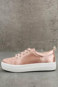J Slides Amberr Blush Satin Sneakers