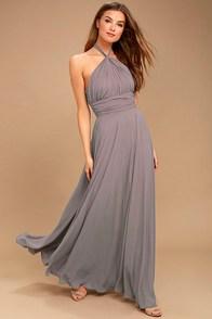 Dance of the Elements Dusty Purple Maxi Dress