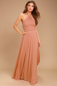 Dance of the Elements Rusty Rose Maxi Dress