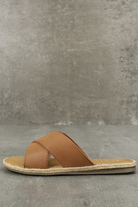 Koren Tan Espadrille Slide Sandals