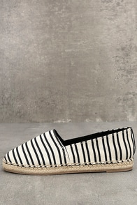 Circus by Sam Edelman Laila Black and White Espadrille Flats