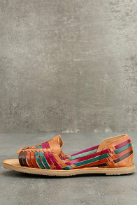 Sbicca Jared Multi Leather Huarache Flats