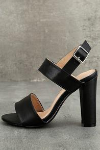 Hanneli Black High Heel Sandals