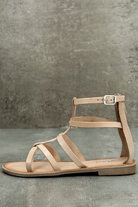 Rebels Florence Natural Leather Gladiator Sandals