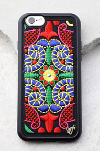 Wildflower Georgette Two Black Embroidered iPhone 6 and 6s Case