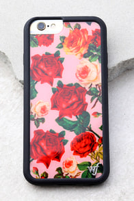 Wildflower Rose Garden Pink Floral Print iPhone 6 and 6s Case