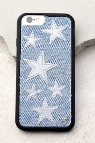 Wildflower Star Vintage Denim and Silver iPhone 6 and 6s Case