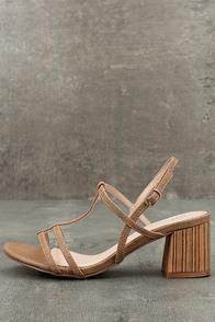 Carlita Beige High Heel Sandals