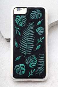 Zero Gravity Fern Black Embroidered iPhone 7 Case