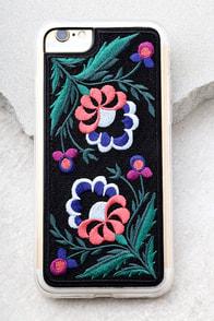 Zero Gravity Belle Black Embroidered iPhone 7 Case