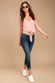 Greta Medium Wash Distressed Skinny Jeans