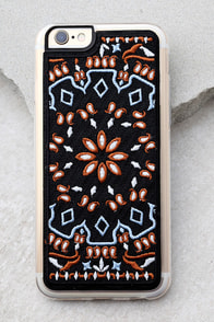 Zero Gravity Jagger Black Embroidered iPhone 6 and 6s Case