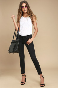 Kitty Washed Black Skinny Jeans
