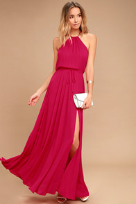 Essence of Style Berry Pink Maxi Dress