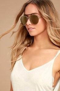Skyward Gold Mirrored Aviator Sunglasses