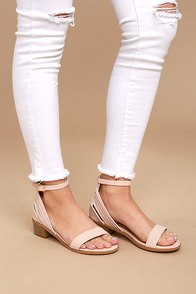 Rochelle Blush Ankle Strap Sandals